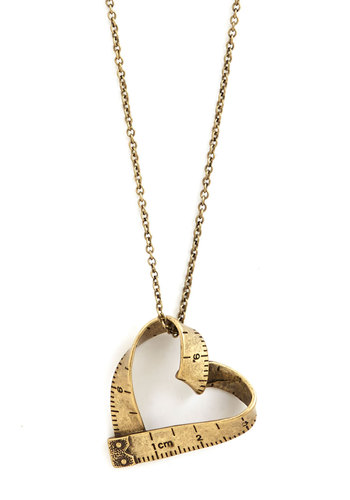 Love Beyond Measure Necklace - Gold, Solid, Scholastic/Collegiate, Good, Gold
