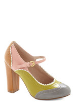 Primed to Parade Heel in Grey Multi