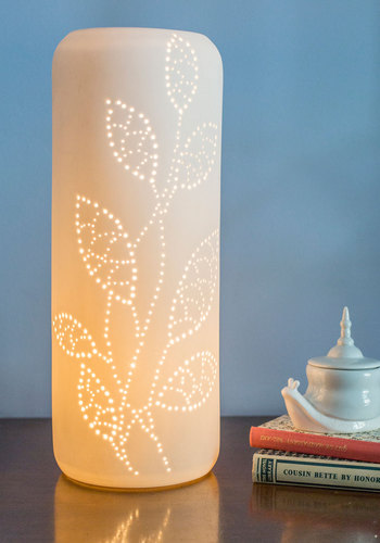 Leaf a Light On Lamp - White, Dorm Decor, Better, Solid, Folk Art