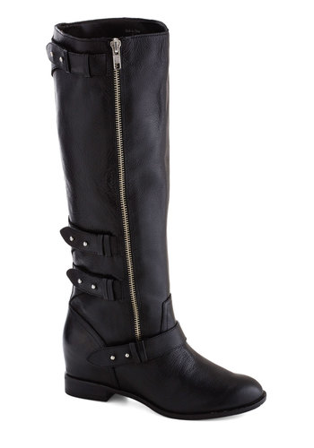 New to Nashville Boot by Dolce Vita - Black, Solid, Mid, Best, Leather, Casual, Fall