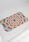 Synchronized Singing Tub Mat by Decor Craft Inc. - Multi, Quirky, Good, Orange, Print with Animals