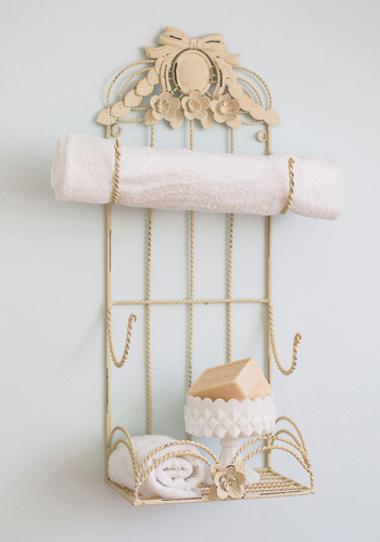 Guest Cottage Towel Holder - Cream, French / Victorian, Good, Solid, Vintage Inspired, Wedding