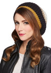 Fall for Autumn Hat by Wooden Ships - Black, Yellow, Tan / Cream, Stripes, Fall, Winter, Knit, Knitted, Casual