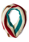 Positive Altitude Circle Scarf by Wooden Ships - Knit, Stripes, Fall, Winter, Best, Cream, Red, Blue, Brown, Knitted