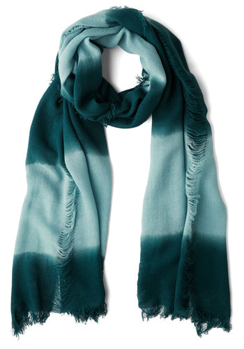 Seamless Transition Scarf - Blue, Ombre, Fringed, Casual, Better, Woven, Stripes