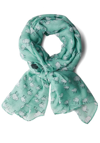 Counting on It Scarf - Black, White, Print with Animals, Casual, Better, Woven, Mint, Top Rated