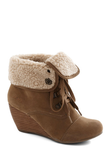 Inside Story Bootie - Tan, Winter, Wedge, Lace Up, Mid, Better, Tan / Cream, Solid, Urban, Rustic, Faux Leather