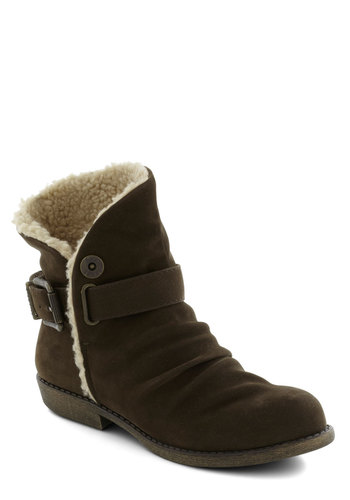 The Aviatrix Boot - Brown, Buckles, Buttons, Winter, Low, Better, Tan / Cream, Solid, Casual, Faux Leather