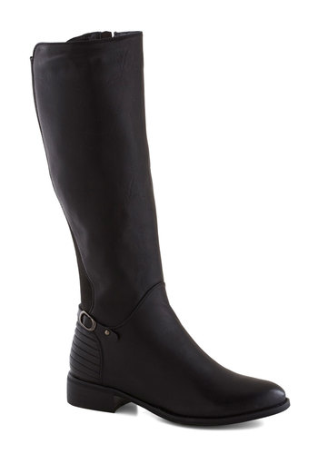 Brick Oven Boot in Black - Low, Faux Leather, Black, Solid, Good, Minimal, Variation