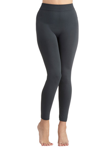 Warming Noon and Night Leggings in Charcoal - Solid, Casual, Skinny, Grey, Variation, Basic, Fall