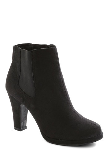 Your Own Realm Bootie - Black, Solid, Good, Platform, Mid, Minimal