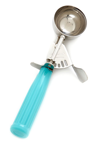 What's Your Flavor? Ice Cream Scoop by Kikkerland - Blue, Vintage Inspired, 50s, Good, Summer