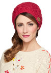 Come on Inn Hat in Red by Wooden Ships - Red, Tan / Cream, Solid, Fall, Winter, Knit, Buttons, Knitted, Casual, Variation, Holiday, 90s