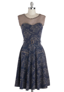 Blogging Molly Dress in Navy Floral