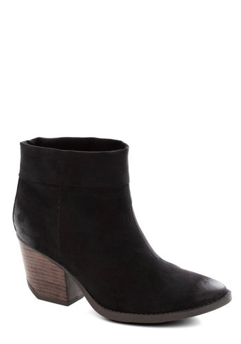 Law of Attraction Bootie - Mid, Black, Solid, Minimal, Good, Chunky heel, Work