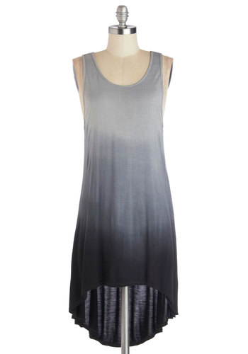 Sunrise and Shine Top in Black - Mid-length, Jersey, Knit, Grey, Ombre, Casual, Tank top (2 thick straps), Good, Black, Variation, Scoop, Grey, Tank Top, Festival, Cover-up