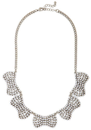 Countess of Cute Necklace - White, Solid, Pearls, Statement, Silver