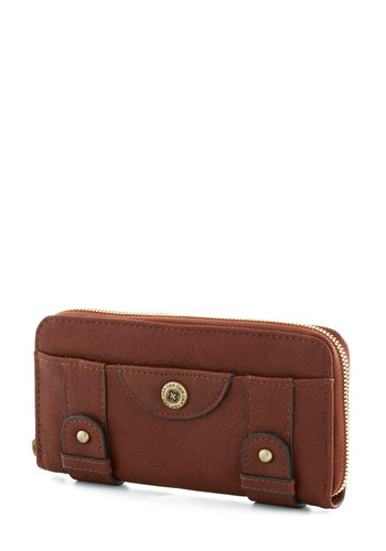 Classy Cafe Wallet by Ollie & Nic - Faux Leather, Tan, Gold, Solid, Travel, International Designer, Basic
