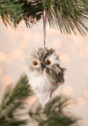 And Owl Through the House Ornament - Grey, Owls, Good, Print with Animals, Holiday