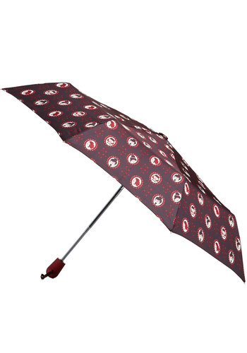 Portrait Gallery Crawl Umbrella - Red, Multi, Spring, Fall, Novelty Print, Travel