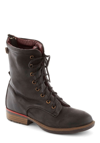 Optimal Conclusion Boot - Black, Steampunk, Lace Up, Low, Leather, Better, Casual, Military, Menswear Inspired