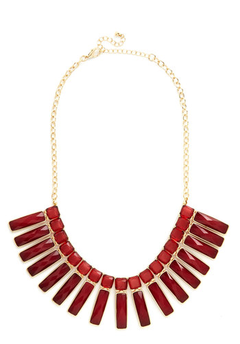 Take Nothing for Pomegranate Necklace - Red, Solid, Vintage Inspired, 60s, Better, Gold, Holiday Party