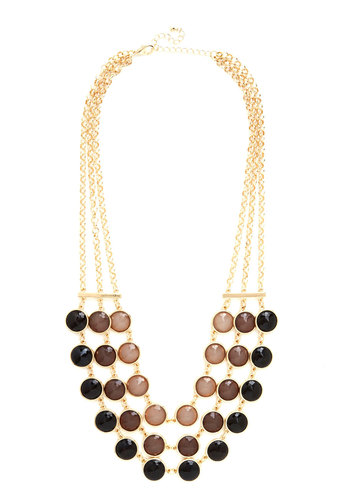 Good to Gradient Necklace - Black, Gold, Ombre, Tiered, Statement, Better, Gold