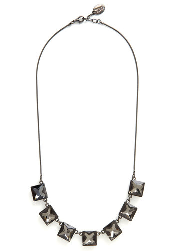 Enhance Your Look Necklace - Solid, Good, Grey, Gunmetal, Holiday Party