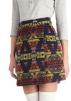 Cactus Garden Skirt - Short, Print, Exposed zipper, Rustic, A-line, Good, Multi, Multi