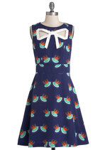 Peek-a-Bow Dress in Swallows