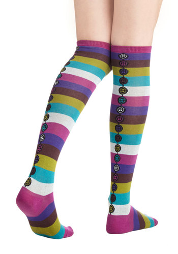 The Fun for Me Socks - Multi, Stripes, Casual, Good, Knit