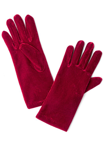 Class from the Past Gloves - Red, Solid, Holiday Party, Winter, Fall, Good