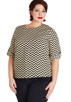 Zag in Action Top in Plus Size