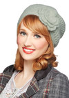 Warm Regards Hat by Wooden Ships - Mint, Solid, Flower, Knitted, Fall, Winter, Knit