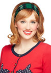 Crossing Campus Headband - Green, Blue, White, Plaid, Better, Variation, Woven, Scholastic/Collegiate