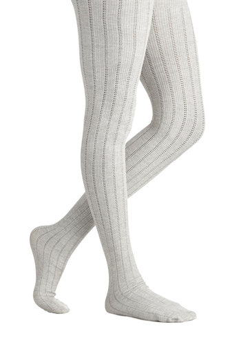 Candy Cottages Tights - Cream, Solid, Fall, Winter, Better, Knit