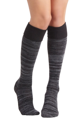 Settled on Simple Socks - Knit, Grey, Casual