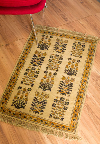Spruce Your Space Rug - 2x3.5 - Cotton, Woven, Tan, Boho, Better, Print