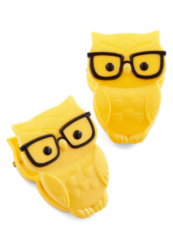 Owl and Later Clips by Gama-Go - Yellow, Owls, Good, Print with Animals