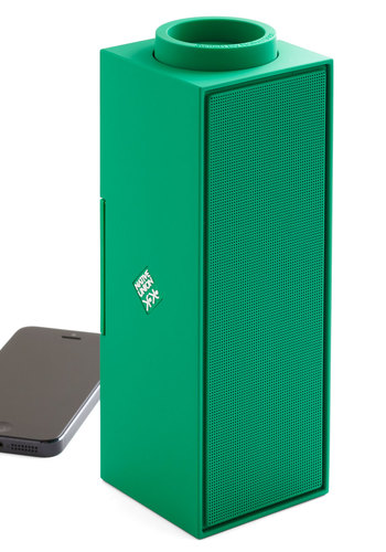 Power Playlist Portable Bluetooth Speaker in Emerald - Green, Urban, Minimal, Best, Dorm Decor, Music, Guys