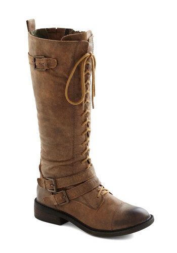 Legume and Me Boot by Lucky - Low, Leather, Tan, Solid, Buckles, Safari, Best, Lace Up