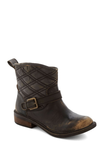 Darling Damsel in Distressed Boot by Lucky - Low, Leather, Green, Solid, Buckles, Best, Brown, Quilted, Rustic, Military