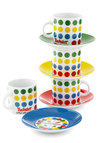 Right Hand, Ready Espresso Cup Set - Multi, Vintage Inspired, Quirky, Good, Novelty Print