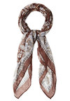 I Love Uke Scarf - Brown, Multi, Paisley, Good, Variation, Boho, Vintage Inspired, 70s