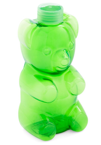 Beary Thirsty Travel Bottle by Gama-Go - Green, Quirky, Good, Solid, Print with Animals, Kawaii, Top Rated