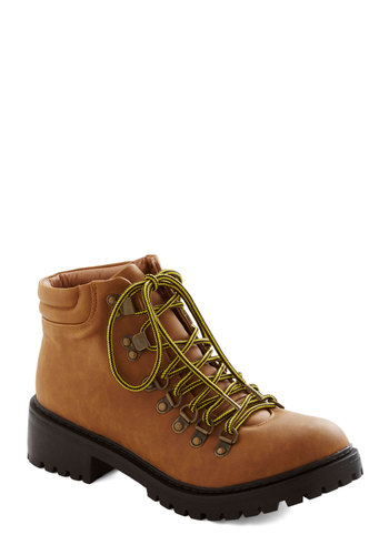 Moraine or Shine Boot - Tan, Menswear Inspired, Urban, Low, Better, Lace Up, Faux Leather