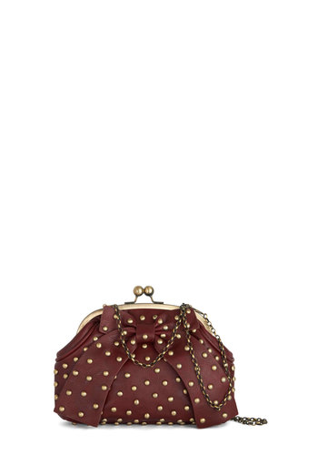 Vintner's Choice Bag by Darling - Red, Bows, Chain, Studs, International Designer, Party, Cocktail