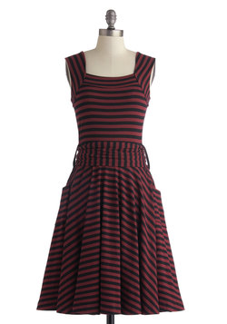 Guest of Honor Dress in Varsity Stripes
