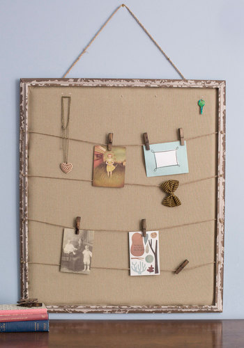 At a Memento's Notice Keepsake Board - Woven, Tan, Rustic, Best, Dorm Decor