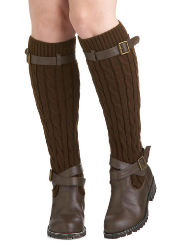 Change For The Sweater Boot in Hickory by Restricted - Low, Leather, Knit, Brown, Buckles, Knitted, Better, Solid, Gifts Sale